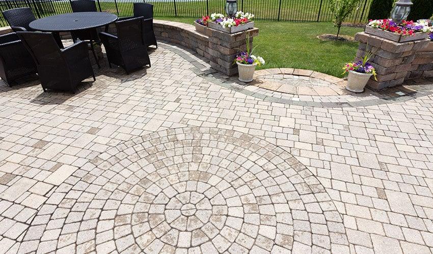 brick patio installation